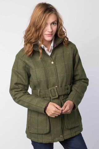 Ladies Short Tweed Belted Jacket