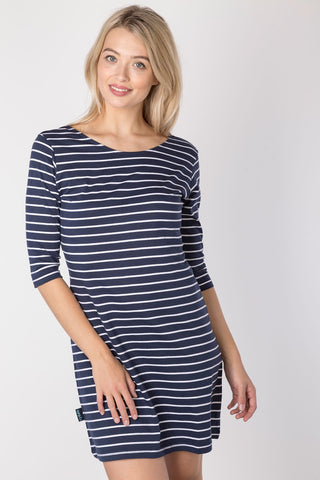 Navy - Ladies Cayton Bay 3/4 Sleeve Dress