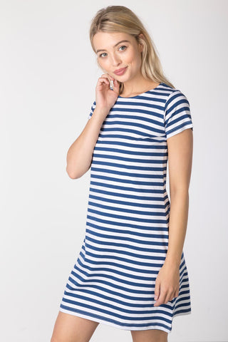French Blue - Ladies Cayton Bay T-Shirt Dress