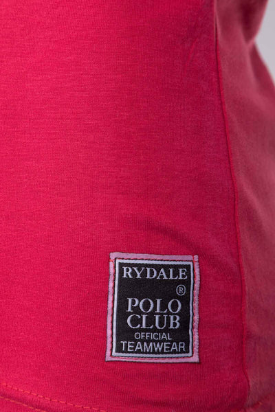 Crimson  - Lades Club Polo Club T-Shirt