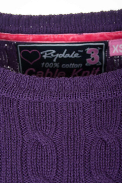 Purple - Cable Knit Sweater by Rydale