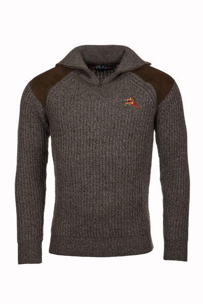 Derby Tweed - Danby 1/2 Zip Chunky Shooting Sweater