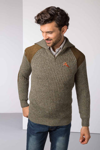 Danby 1/2 Zip Chunky Shooting Sweater