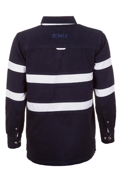 Navy/White - 2 Stripes Deckshirt