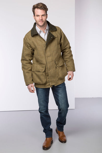 Light Check - Mens Derby Tweed Padded Shooting Jacket