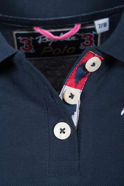 Navy - Rydale Juniors Girls Muston Polo Shirts