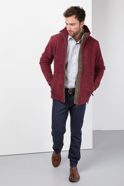 Deep Red - Egton Full Zip Fleece