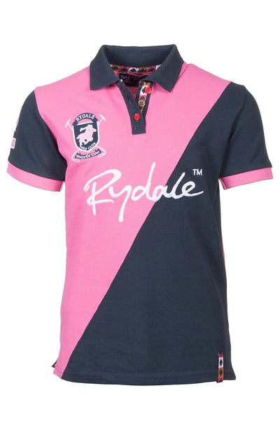 Navy/Candy - Rydale Juniors Girls Polo Shirts