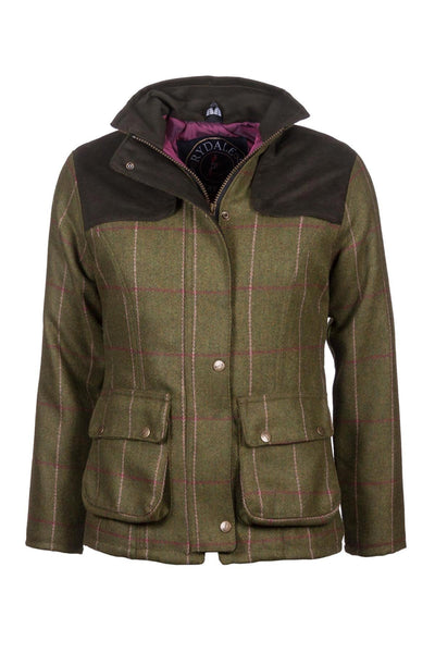 Light Green/Pink - Girls Tweed Jacket
