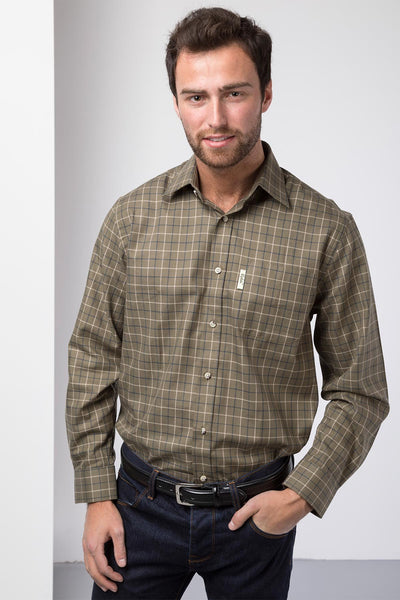 Gransmoor Olive - Long Sleeved Country Check Shirt