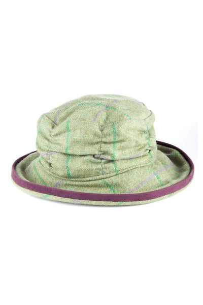Purple / Green - Ladies Tweed Dress Hat
