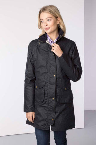 Hannah 3/4 Diamond Quilted Wax Jacket