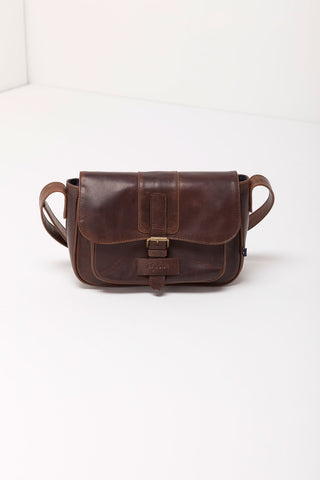 Heather Leather Shoulder Bag