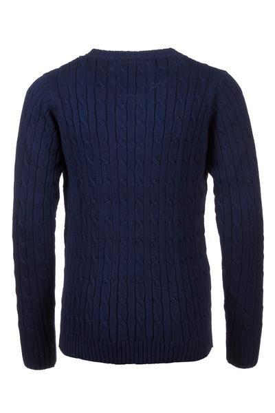 Navy - Junior Cable Knit Sweater