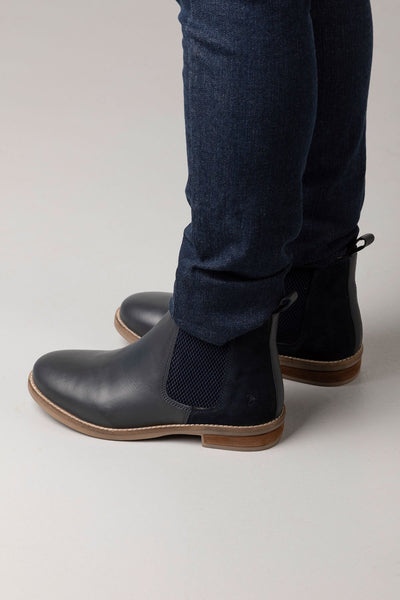 Navy - Ladies Kirby Leather Boots