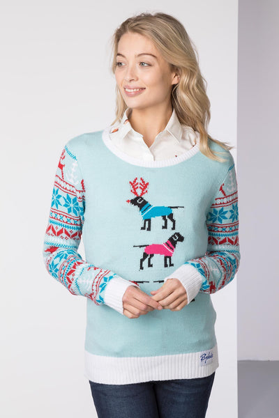 Labrador Mint - Ladies Christmas Sweater