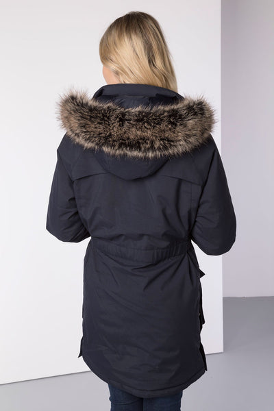 Navy - Malham Long Winter Coat