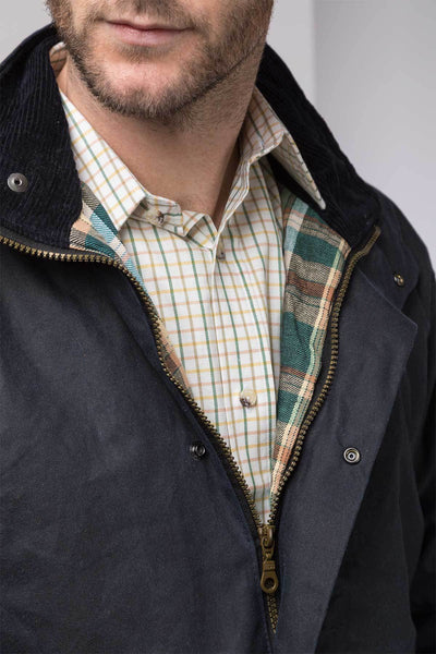 Navy - Mens Cawood Wax Jacket