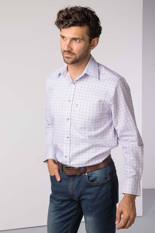 Eastfield White - Men's Country Check Shirt