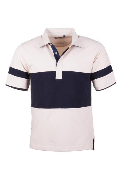 Stone/Navy - Mens Mk1 Beadlam Polo
