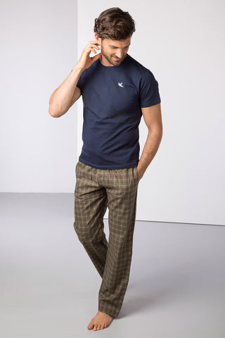 Gransmoor Olive/Navy - Mens Percy Pyjama Set