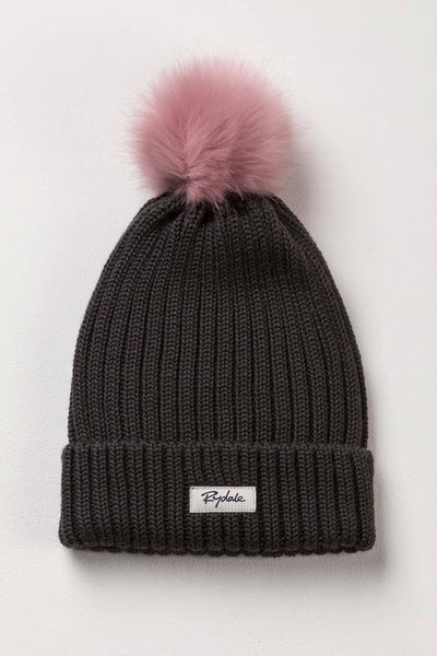 Gunmetal - Ladies Poppy Pom Pom Hat