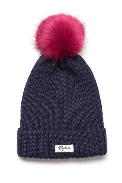 Navy - Ladies Poppy Pom Pom Hat