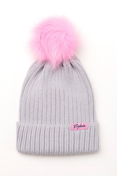 Grey - Poppy Pom Pom Hat