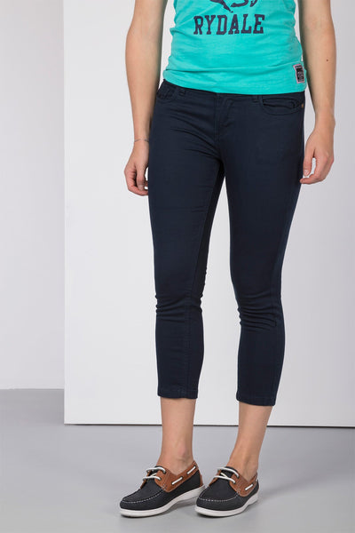 Navy - Ladies Portia Skinny Crops