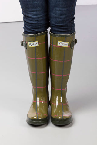Ripon High Gloss Tweed Pattern Wellingtons
