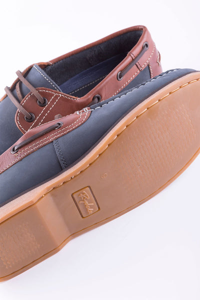 Navy - Men's Sandsend Deck Shoes
