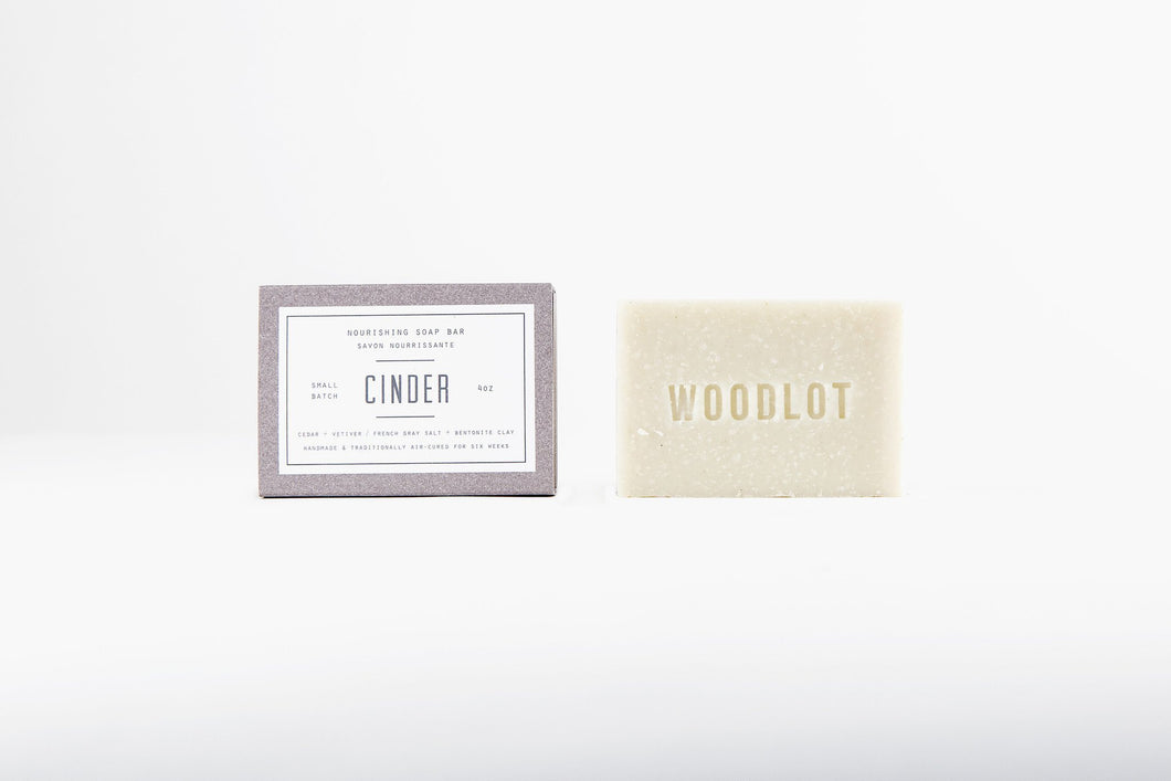 WOODLOT CINDER – 4OZ SOAP BAR