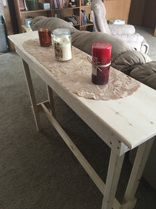 White Pine Console Table