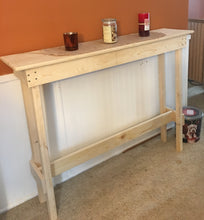 Load image into Gallery viewer, White Pine Console Table