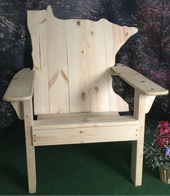 Classic Minnesota State Back Adirondack Chair