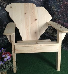 Classic South Carolina State Back Adirondack Chair
