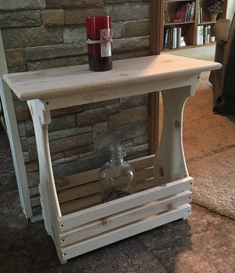 White Pine Magazine Rack Table