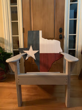 Load image into Gallery viewer, Classic Texas State Back Adirondack Chair