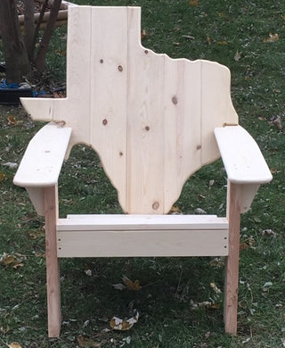 Classic Texas State Back Adirondack Chair