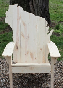 Classic Wisconsin State Back Adirondack Chair