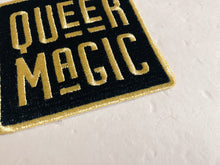 Load image into Gallery viewer, Black and Gold Queer Magic Patch