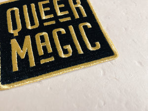 Black and Gold Queer Magic Patch
