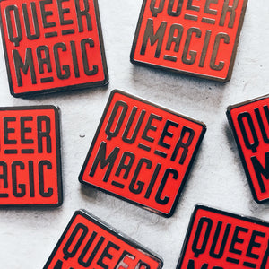 Red Queer Magic Pin