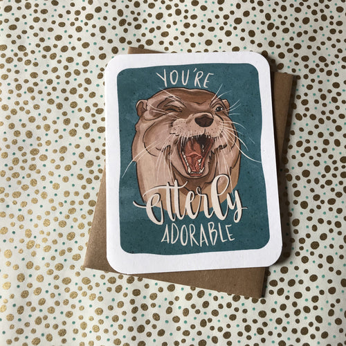 You're Otterly Adorable Card