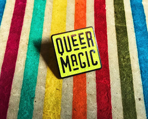Bright Chartreuse Queer Magic Pin