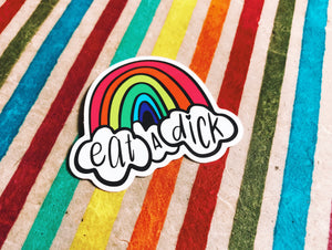 Eat a Dick Rainbow Sticker