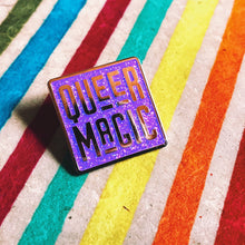 Load image into Gallery viewer, Purple Queer Magic Pin