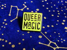 Load image into Gallery viewer, Bright Chartreuse Queer Magic Pin