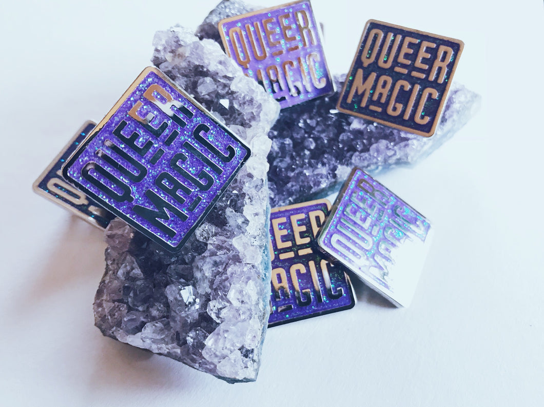 Purple Queer Magic Pin