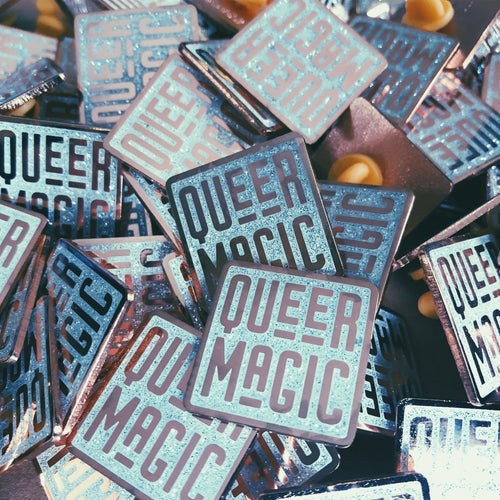 White Queer Magic Pin